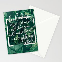 Look Deep Into Nature Stationery Cards