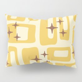 Retro Mid Century Modern Abstract Pattern 577 Yellow Brown Pillow Sham
