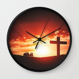 Good friday easter concept Wall Clock