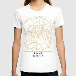 ROME ITALY CITY STREET MAP ART T-shirt