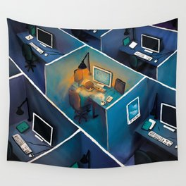 SICK AT THE OFFICE Wall Tapestry