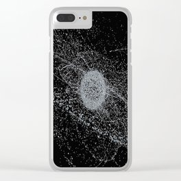 space X circle line black Clear iPhone Case