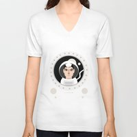 """movie poster V-neck T-shirts featuring """"Gravity"""" Movie Poster by Gary  Ralphs Illustrations"""