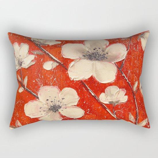 Flowering Apple tree Rectangular Pillow