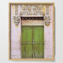 Havana Door - Cuba Travel, Architecture Photography Serving Tray