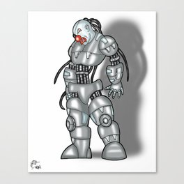 Robot Series - Clown Model Canvas Print