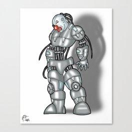 Robot Series - Clown Model Canvas Print