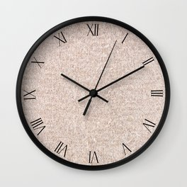 Beige jersey cloth textured abstract Wall Clock