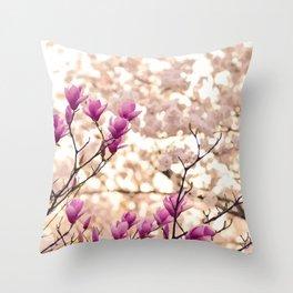 Cherryflowers' flowering Throw Pillow