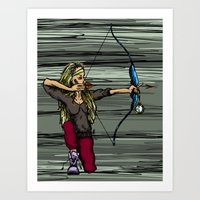 archer Art Prints featuring Archer by Natalie Easton