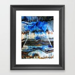 Blue Note Fire Framed Art Print