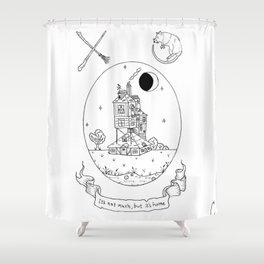 Wizard House Design Shower Curtain