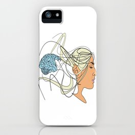 Brain Seperation iPhone Case