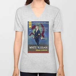 """""""Tales of the White Russian"""" Book Cover Unisex V-Neck"""