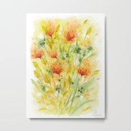 Fiery Flower Field Metal Print