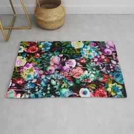 Multicolor Floral Pattern Rug