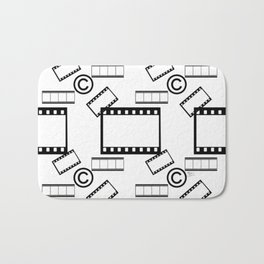 Film © pattern Bath Mat