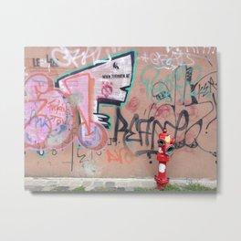 Cluj Graffiti Metal Print