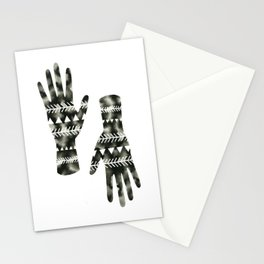 Geometric Triangle Hands Stationery Cards