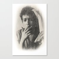 dylan Canvas Prints featuring Dylan by EclipseLio