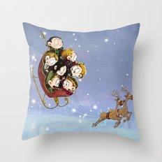 Little Hiddles Christmas Time Throw Pillow
