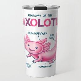 Anatomy of the Axolotl Travel Mug