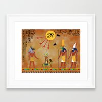 egypt Framed Art Prints featuring Egypt by Michele Roper