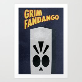 Minimalist Grim Fandango Poster Art Print