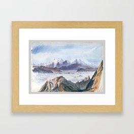 Iselle from Mount Pilatus, John Singer Sargent Framed Art Print