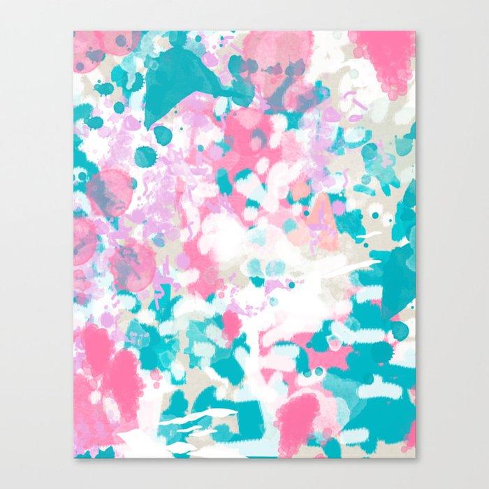Shaz - abstract painting minimal modern color palette boho nursery home decor Canvas Print