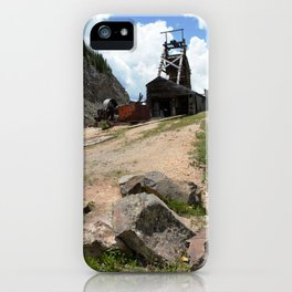 Climbing Up to the Longfellow Mine at 11,080 Feet iPhone Case