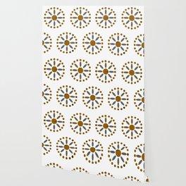 African Beadwork in White by Lorloves Design Wallpaper