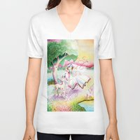 fairy tale V-neck T-shirts featuring Fairy Tale by Julie Edwards