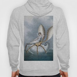 """""""Fairy Resting On A Shell"""" by Amelia Jane Murray Hoody"""