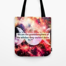 Cosmic Feminist Witch Tote Bag