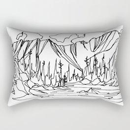 Ice Creek Lake, Valhallas :: Single Line Rectangular Pillow