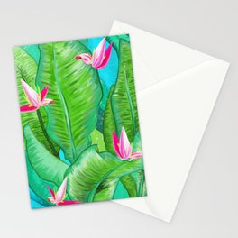 Banana Floral Stationery Cards
