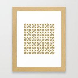 Minimalist Brush Strokes X Gold Framed Art Print