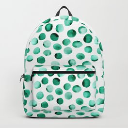 Watercolor Dots // Emerald Backpack