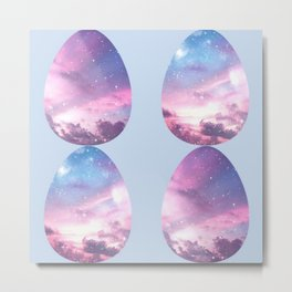 Space Eggs Metal Print
