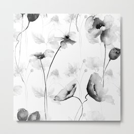 Seamless pattern with Decorative summer flowers Metal Print