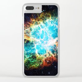 Crab Nebula Clear iPhone Case