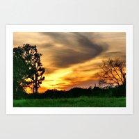 April East Texas Sunset Art Print