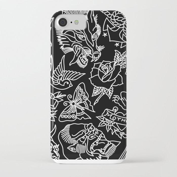 black print iphone case