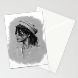 Camila Gray Sketch Stationery Cards