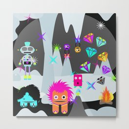 Wondrous & Whimsical Places: The Neon Ice Cave Metal Print