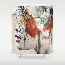 Abstract deconstruction ... Shower Curtain