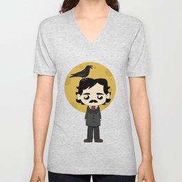 Cute Edgar Allan Poe Unisex V-Neck
