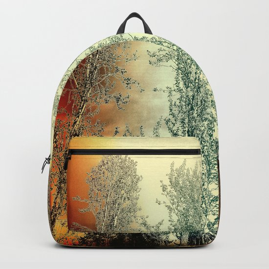 Autumn Poplars, Sunlight Dreaming About You Backpack