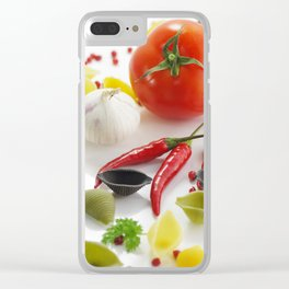 Pasta and their ingredients Clear iPhone Case